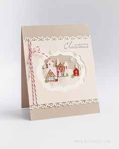 Stampin' with Irina: Countryside Landscape Christmas Card