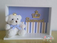 Porta maternidade - ursinho príncipe