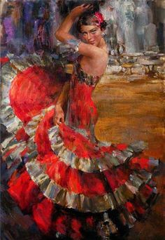 Kai Fine Art is an art website, shows painting and illustration works all over the world. Spanish Dancer, Spanish Art, Spanish Phrases, Spanish Culture, Spanish Vocabulary, Spanish Rice, Spanish Memes, Spanish Lessons, Spanish Food