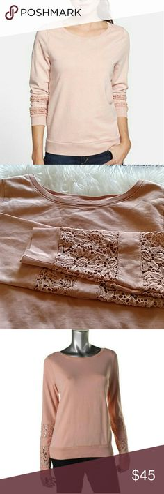Lucky brand softest knitwear sweater Soft pretty blush colored sweater. Lucky lotus from lucky brand. Not sure I want to let this one go haha Lucky Brand Sweaters Crew & Scoop Necks