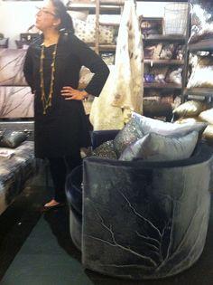 Aviva Stanoff and her creations! Velvets, Swarovski crystal #hpmkt #stylespotters