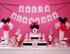 Minnie Mouse Birthday  Party Package  by HandmadePartyCo on Etsy, $144.00