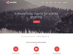 Sensible is a responsive, multi-purpose theme which can be used for any type of website. It is a flexible theme which can be used to help build an online presence...