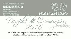 Solicita tu entrada!! #memiman #Alcorcón #Getafe #Comunión2016