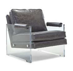 This chair is pretty modern but we can pair it with a more traditional color leather (like a nude or even a brown leather) i think the mix of a traditional leather with the modern sides would be really cool in your room with the bed and nightstands - before I pin more - do you like the look?