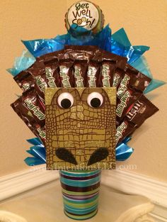 Large Alligator Candy Bouquet by Sweet Intentions, LLC.   https://www.facebook.com/SweetIntentionsLLC
