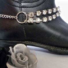 Bling your boots ✨✨. Gorgeous rhinestone boot chains from www.bootbooti.etsy.com