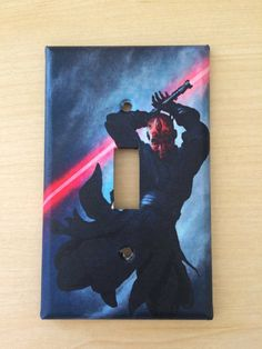 Star Wars Darth Maul light switch plate cover Handmade light switch cover Excellent room décor Great gift only $8.99 Order from my Etsy shop now www.etsy.com/shop/JTsGrotto