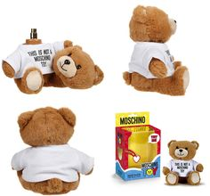 Moschino Teddy Bear by Moschino  Innovative Packaging.  Moschino did something I find extremely charming and fun to have as a collectible. It's a teddy bear with a hidden perfume when you turn the head. It's fun and weird for a perfume to have this as opposed to a glass container, but since Moschino is a fun fashion brand the route that they took with it is adorable and oddly brilliant at the same time.