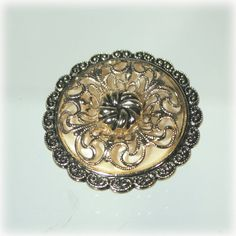 Filigree and Antiqued Gold Tone West Germany by JunkboxTreasures