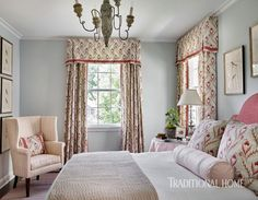 An Atlanta designer leads her home out of its confines and into the new world of family living Teen Girl Bedrooms, Guest Bedrooms, Nice Bedrooms, Master Bedroom, Elegant Home Decor, Elegant Homes, Traditional Bedroom, Traditional House, Beautiful Bedrooms