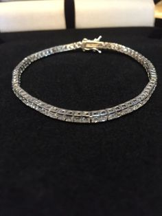 PRINCESS CHANNEL SET LCS DIAMOND TENNIS BRACELET SZ 7 + GIFT! SZ 8 IN OUR…