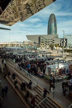 Encants Nous de Barcelona designed by Fermin Vazquez in Poblenou neighbourhood; Barcelona, Catalonia