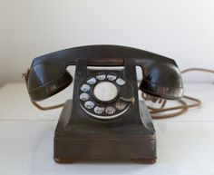 vintage 1940s rotary phone Western Electric by Luncheonettevintage, $74.00