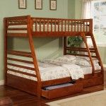 Coaster Furniture - Jackson Rich Walnut Twin Over Full Bunk Bed - 460183   SPECIAL PRICE: $579.00