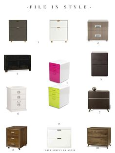 Finally! Filing cabinets with style. Because filing shouldn't make you feel like you're in jail.