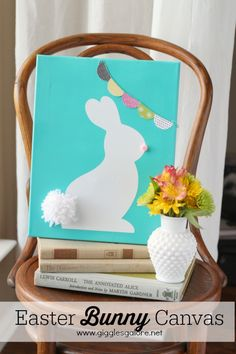 Easy Easter Bunny Canvas - www.gigglesgalore.net