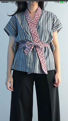 Batik Blazer, Blouse Batik, Batik Dress, Batik Kebaya, Kebaya Dress, Batik Fashion, Ethnic Fashion, Color Blocking Outfits, Kimono Design