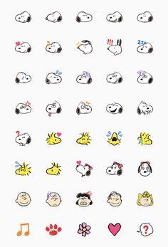 Snoopy Emoji Set Emoji Set, Cute Doodles, Printable Stickers, Peanuts Gang, Snoopy, Cute Drawings, Hilarious Pictures