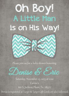 Tiffany blue gray Chevron bow tie Oh boy by StyleMeShabbyChic, $18.50