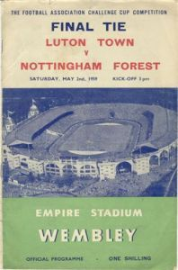 1959 Fa Cup Final Nottingham Forest Vs Luton Town Fa Cup Final Fa Cup Cup Final