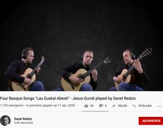 During this corona time Sanel Redzic releases an original quarantaine video: a piece for guitar trio in which he performes al three parts. Classical Guitar, Effort, Investing, Workshop, Channel, Songs, Writing, Concert, The Originals