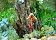 Fairy Garden Birdhouse, Miniature Birdhouse, Birdhouse for Dollhouse, Miniature, Fairy Garden,Terrarium Miniature via Etsy