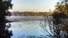 Lakeville Lake, Lakeville, MI Early morning fog. September