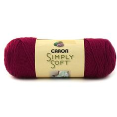 Simply Soft Burgundy Yarn, 3.6oz