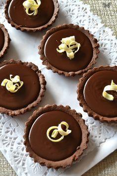 tartaletas de chocolate thermomix | chocolate tarts | masa quebrada