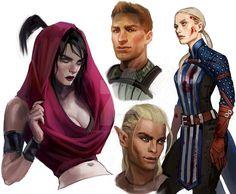 Dragon Age Sketches by CrystalGrazianoArt.deviantart.com on @DeviantArt