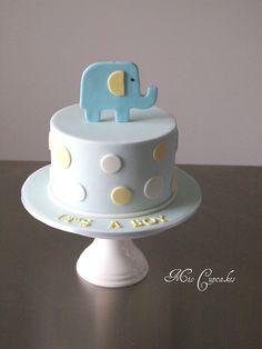baby elephant cake   Mio Cupcakes & Cakes: Baby shower Elephant