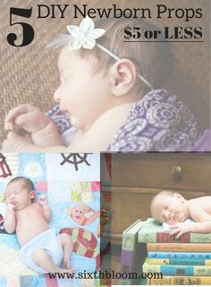 Looking for unique and affordable newborn photography props? Find these newborn props around your home from baskets to wraps with DIY tips too! Baby Girl Photography, Newborn Photography Props, Newborn Photo Props, Photography Tutorials, Photography Tips, Infant Photography, Baby Boy Photos, Newborn Pictures, Baby Pictures