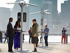Nova York ganha estações solares de recarga de celular