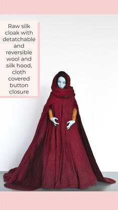 Yalki Palki Bespoke clothing for Ball Jointed Dolls Open for commissions Bespoke Clothing, Ball Jointed Dolls, Cloak, Covered Buttons, Wool, Silk, Clothes, Fashion, Tall Clothing