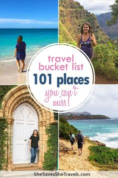How to create your travel bucket list, including 101 travel destinations! Ideas for the best travel places in the entire world. Best destination in Europe, Asia, Africa, Australia, Middle-East and the Americas. Make your own bucket list full of wanderlust destinations! #bucketlist #traveldestinations #wanderlust #travel #europe #africa #asia #USAtravel