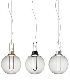 Orb: a luminous #globes with a retrò style touch - Modoluce's new suspension at Euroluce 2015