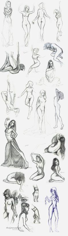 Life Drawings by TheJoanaPADJ
