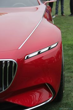 Vision Mercedes-Maybach 6 Car Explained by Design VP Front End Design, Mercedes Benz Cars, Mercedes Concept, Chrome Door Handles, Car Design Sketch, Benz S, Classic Sports Cars, Top Cars, Car Lights