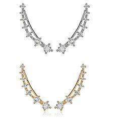"""CIShop 7-Stars"""" Alloy Diamond Stud Earring Ear cuff Earring Sweet Ear Hoop Hypoallergic"""" - CHECK IT OUT @ http://www.finejewelry4u.com/jew/101454/150720"""