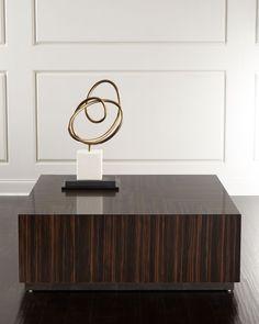 Larkwood Square Coffee Table, Dark Wood Grain - Bernhardt