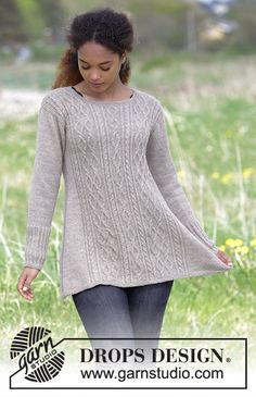 Morgan's Daughter / DROPS - Free knitting patterns by DROPS Design - Knitting patterns, knitting designs, knitting for beginners. Knitting Patterns Free, Knit Patterns, Free Knitting, Free Pattern, Finger Knitting, Drops Design, Tunisian Crochet, Knit Crochet, Knit Cowl