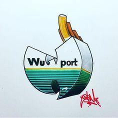Wu-Tang Clan x Newports Wu Tang T Shirt, Wu Tang Tattoo, Wu Tang Clan Logo, Rock Band Logos, Hip Hop Art, Rap God, Dope Art, Graffiti Art, Urban Art