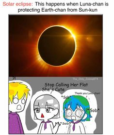 Solar eclipse | Earth-chan | Know Your Meme