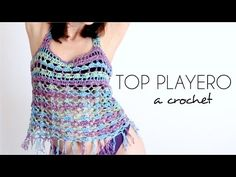 TOP PLAYERO a crochet | BLUSA TEJIDA paso a paso (ENGLISH SUB) - Parte 1/2 AHUYAMA CROCHET - YouTube