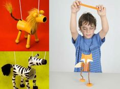 Marionete - Card board strings puppets