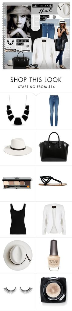 """Get the Look: Hat Edition - MIRANDA KERR"" by alves-nogueira ❤ liked on Polyvore featuring Trilogy, Karen Kane, Calvin Klein, Janessa Leone, Givenchy, Bobbi Brown Cosmetics, Sole Society, Twenty, River Island and Calypso Private Label"