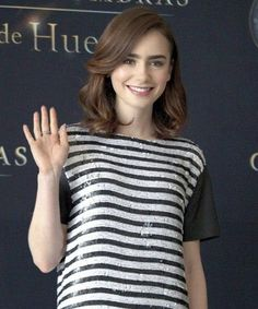 lily collins haircut - Google Search