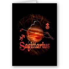 Valxart creepy zodiac born Sagittarius Card by ValxArt