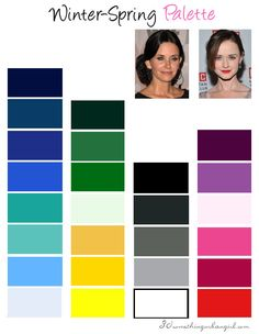 Winter-Spring, Clear Winter seasonal color palette | #ClearWinter #colorpalette